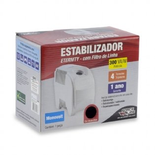ESTABILIZADOR ETERNITY - MONO 300VA CINZA FORCE LINE