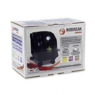 Nobreak Senoidal Bivolt 1200VA Preto Force Line